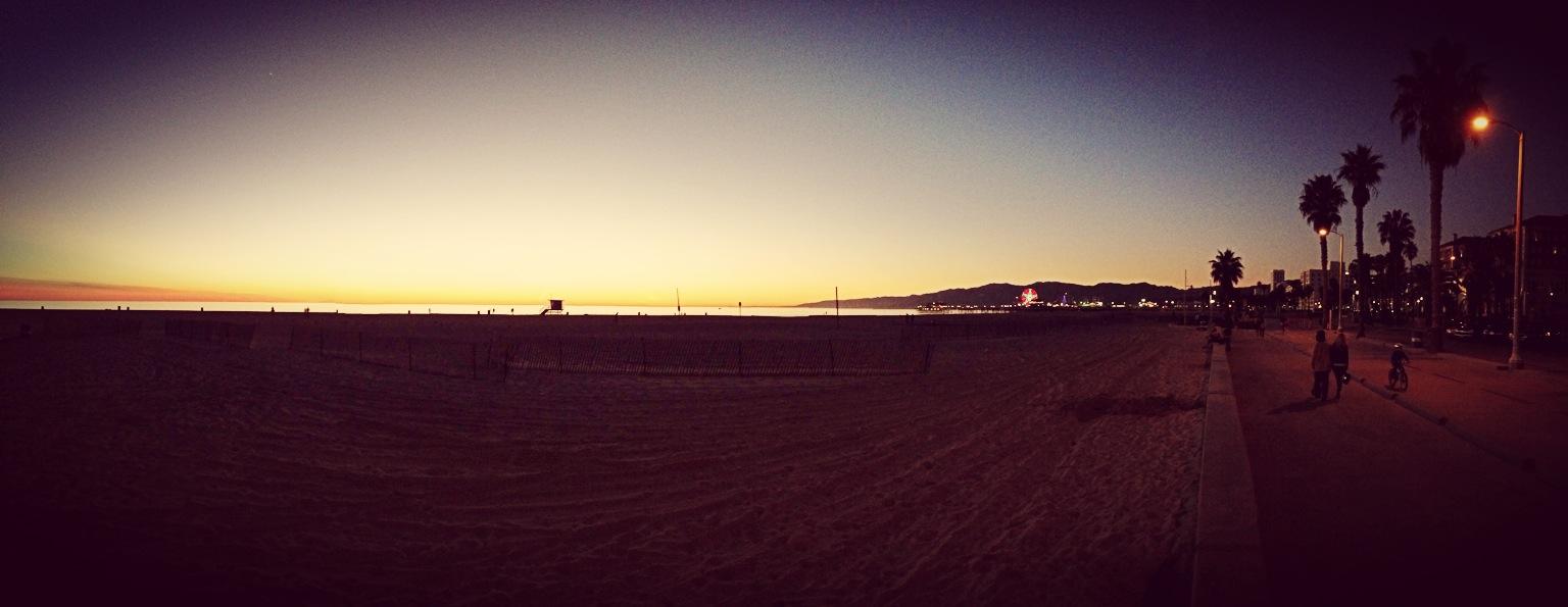 Santa Monica Beach Sunset
